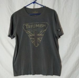 Lucky Brand Triumph Motorcycles T-shirt Large
